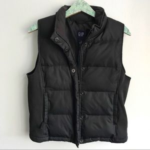 GAP Down Feather filled Puffer Vest Black